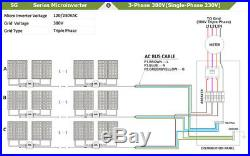 1200W Waterproof Grid Tied Inverter DC18V-50V Solar Microinverter 2.4G Wireless