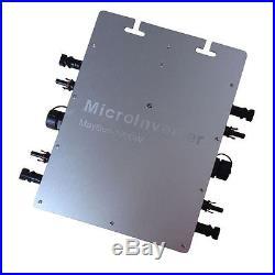 1200W grid tie micro inverter, mppt pure sine wave DC 22-50V IP65