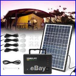 12V 4A Solar Power Generator Supply Inverter Emergency Energy Storage + 4 Bulb