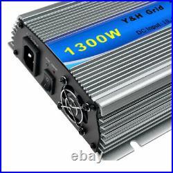 1300W Grid Tie Inverter AC110V for 12V Solar Panel Pure Sine Wave Micro Inverter