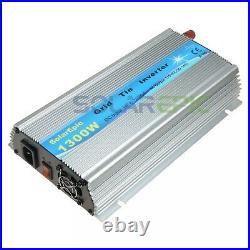 1300W MPPT Grid Tie Inverter DC18V/24V to AC110V/220V Pure Sine Wave Inverter CE