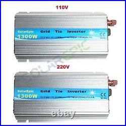 1300W Solar Grid Tie Inverter DC24V to AC110V/220V 50Hz/60Hz Pure Sine Wave MPPT