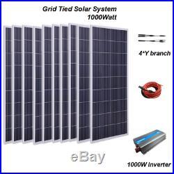 1KW 1000W Grid Tie Solar System Kit 10100W Solar Panel +1000W Inverter