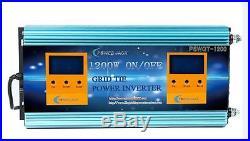 2 IN 1 ON/OFF 1200W Grid Tie Power Inverter DC 28V-48V To AC 110V (28-48V Solar)