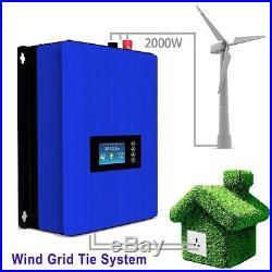 2000W Wind Turbine on Grid Tie Inverter Home Power Sun 2000G2 WAL 45-90v 3 phase