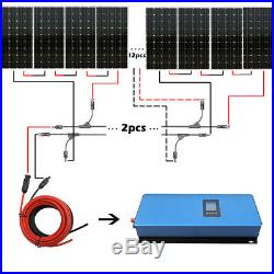 2KW Grid Tie Solar Kit 20 pcs 100W Mono Solar Panel With 2000W Inverter For Farm