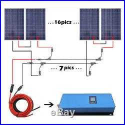 2KW Grid Tie Solar System 20x 100W Solar Panel With 2000W Power Inverter For Home