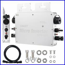 300/600/1200W MPPT Waterproof Solar Grid Tie Micro Inverter DC to AC 220V Power