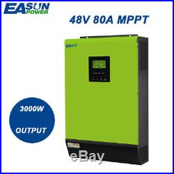 3000W Grid Tie Inverter 80A MPPT Hybrid Solar Inverter 48V 220V 60A AC Charger