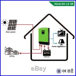 3KVA 2400W 110V Grid Tie Inverter 24V MPPT Solar Inverter Hybrid Inverters 40A