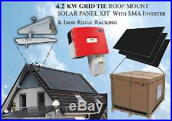4.2 KW Grid-Tie Solar Panel Kit with SMA 4000W Inverter & Ironridge Racking