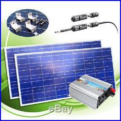 400 Watt Grid Tie Inverter+12V 200 Watt Poly Solar Panel