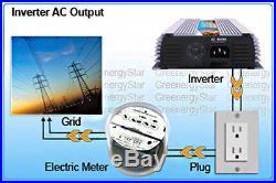 400 Watt Grid Tie Inverter+12V 200 Watt Poly Solar Panel (2x100W)+ Z Mounting