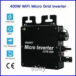 400W 120V/230V MPPT Micro Solar Inverter Pure Sine Wave Waterproof IP65 Filter