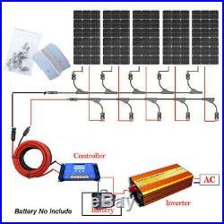 400W 500W 600W Watt Off Grid Kit 100W Solar Panel & 1KW Pure Sine Inverter Kit