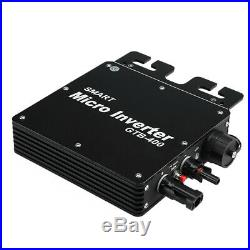 400W MPPT Solar Grid Tie Micro Inverter Pure Sine Wave Waterproof IP65 Portable