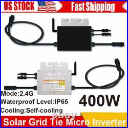 400W Solar Grid Tie Micro Inverters Waterproof 18-50V Input for 36V Solar Panel