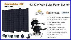 5.4 KW Micro Inverter Grid Tie Solar Panel System German Solar Enphase IQ7+