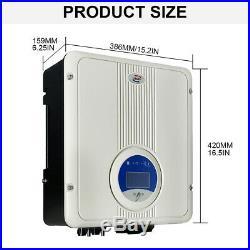 5KW 110V / 220V AC Solar Panel MPPT Grid Tie Inverter Home School Factory Roof