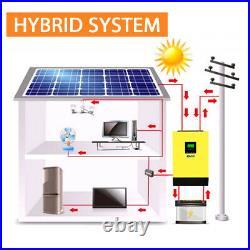 5KW Hybrid Solar inverter 48v 230vac Grid tied + off grid 80A MPPT Solar Charger