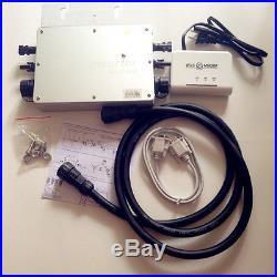 600W 1200W Microinverter Grid Tie With Modem Power Line Communication Inverter