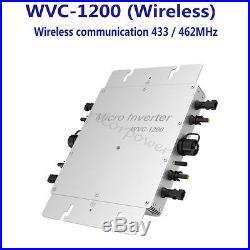 600W 1200W Waterproof IP65 MPPT Solar Grid Tie Inverter DC 22-50V to AC110/220V