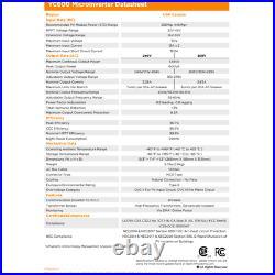 600W 240V Grid-Tie Micro Inverter by APS Rule 21 UL Listed 250W 410W+