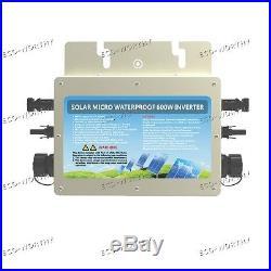 600W 24V-110V Waterproof Grid Tie Inverter for Home Grid Tie System Kits