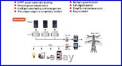 600W DC22-50V to 110V/22 Waterproof Grid Tie Micro Inverter MPPT Pure Sine Wave