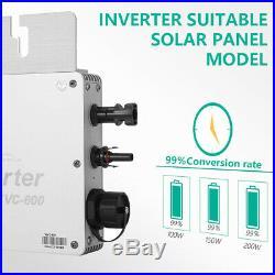 600W Grid Tie 110V Waterproof Solar Inverter & MPPT Function Output More Power