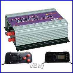 600W Grid Tie Inverter for Wind Turbine Pure Sine Wave AC/DC To AC 110V 220V LCD