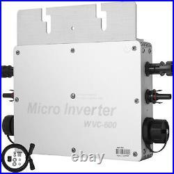 600W MPPT Grid Tie Inverter 110V/220V DC22-50V Light Weight CE Safe HOT