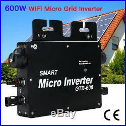 600W MPPT Solar Grid Tie Micro Inverter IP65 Pure Sine Wave Waterproof Portable
