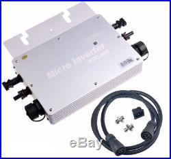 600W MPPT Waterproof Grid Tie Inverter DC22-50V to AC110V Solar Micro Inverter