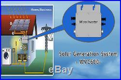 600W Waterproof Micro Grid Tie Inverter DC22-50V Pure Sine Wave Inverter