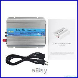 600W Watt Micro Grid Tie Solar Power Inverter Solar Panel Pure Wave MPPT NEW
