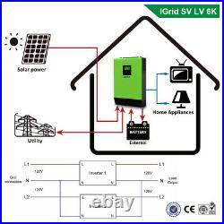 6K 4800W 110V Grid Tie Solar Inverter 24V Inverter MPPT Inverter Pure Sine Wave