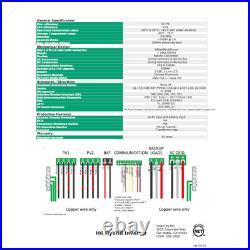 6kW 120/240V Delta H6 6000W Grid-Tied Inverter NEW Battery-less Backup UL1741