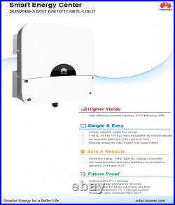 7.6KW Huawei Solar Inverter- SUN2000-7.6KTL-USL0 7600w gridtie inverter 240V
