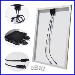 800W 24V Grid Tie System Kit 8 100W Solar Panel with 1200W Waterproof Inverter
