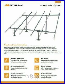 9.9 KW Ground Mount 33x300 Solar Panels SolarEdge Inverter & Racking Kit