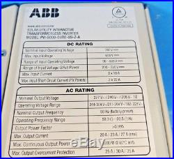 ABB PVI-5000-OUTD-US-Z-A Grid Tie Solar Inverter 5KW 5000W / FREE SHIP