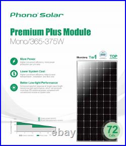 DIY 22kW Grid-Tie Solar Kit (60 pcs 370W 72-cell panels + Wifi Inverter Kits)