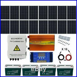 ECO 1KW 1.5KW 2KW 3KW Watt 24V/48V Off Solar Panel Kit 120W Solar Panels System