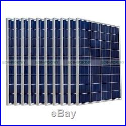 ECO 2KW Home Power Chagre 20pcs 100W Solar Panel & Grid Tie Inverter Roof System