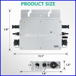 ECO 600W MPPT Watt On Grid Tie Inverter 110V AC Waterproof For Solar Panel Kit