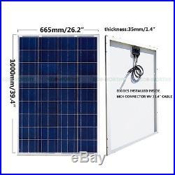 ECO Grid Tie Solar System Roof Kit 100W 160W Solar Panel + 1000W Inverter Home