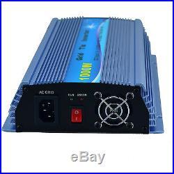 EDECOA 1000W 10.5-30V AC 110V Pure Sine Wave Grid Tie Inverter MPPT Solar Panel
