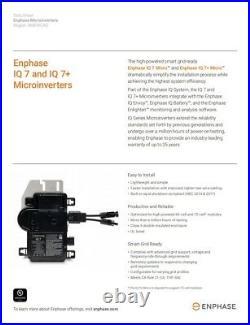 Enphase IQ7PLUS-72-2-US IQ 7+ Microinverter