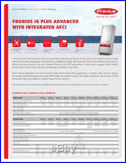 FRONIUS IG PLUS A 11.4-1 10KW Grid Tie Solar Inverter With DC Disconnect IG+ ACFI